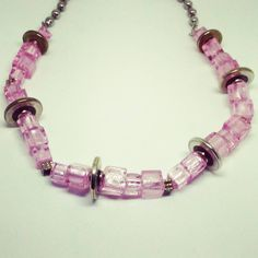 Pink chunky glass necklace #pink #glass #necklace #girlthings #texas #tx #handmadejewelry #customjewelry #pinkjewelry #jewelry #dallas #dallastx #ftw #fortworth #atx #austin #northtexas #metroplex #metro #texasartist #denton #smallbusiness #shoplocal #madeintexas #amandanancedesigns #texasgirl #texasstyle #texasmade