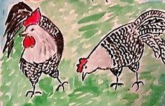 Курочка  и  петушок  породы  Брекель.