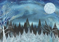 Fine Art Print-Orion and the Oak Forest by elisemahanfineart