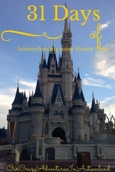 "31 days of homeschooling using Disney parks aims to show you how to homeschool your child at the happiest place on earth.  As I have done previously, I am joining in the Nester's challenge to post every day this month.  After my wonderous adventures at Walt Disney World recently, a thought occurred to me.  Why... <a href=""http://ourcrazyadventuresinautismland.com/31-days-of-homeschooling-using-disney-parks/"">Read More »</a>"