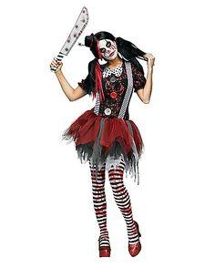 Horror Clown Adult Womens Costume - Spirithalloween.com