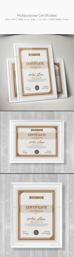 Certificate Psd templates, Certificate design and Certificate - download certificate templates