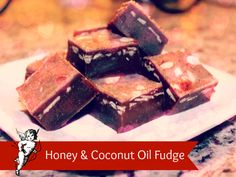 Honey & Coconut Oil Fudge For Bloggers. Find recipe at http://www.blogguidebook.com/2014/02/honey-coconut-oil-fudge-for-bloggers.html
