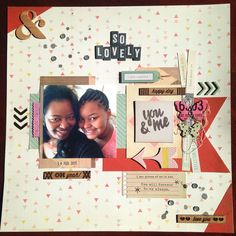 So lovely layout with crate paper notes and things