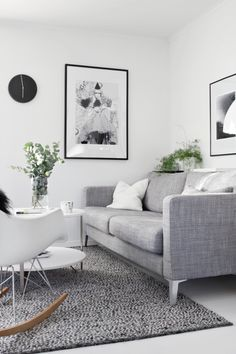 Ikea karlstad sofa. Eames rocking chair. Stylizimo - Home. Decor. Inspiration.