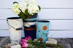 Painted Flower Bucket