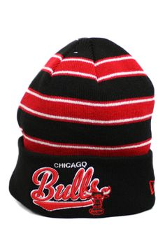 40bb8a1dd79 Chicago Bulls Bandwidth Beanie (Black Red) by