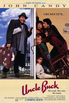 A great poster from the classic John Hughes comedy movie Uncle Buck starring John Candy! Check out the rest of our excellent selection of John Hughes posters! Need Poster Mounts. 80s Movies, Great Movies, Awesome Movies, Throwback Movies, 80s Movie Posters, Cinema Posters, Cult Movies, Iconic Movies, Latest Movies