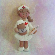 Polymer Clay Christmas Ornament Nurse Syringe by alongcameaspider1, $12.50
