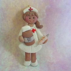 Polymer Clay Christmas Ornament Nurse Syringe by alongcameaspider1, $12.50
