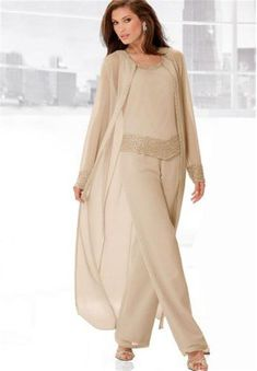 9bd2d36b9e150 2015 New Groom Bridal Mother Suit Champagne Chiffon Mother s Formal Summer  Long Sleeves Jacket Plus Size Scoop Beads Crystal Pants · Formal Pant  SuitsPant ...
