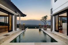 private pool with a great view