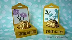 Crafts & Co.: Frohe Ostern - Tischdeko mit Painted Petals