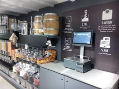 Planet Organic - This ingenious new self-service area for buying bulk foods was recently installed in the Muswell Hill branch of London's Planet Organic all-n...