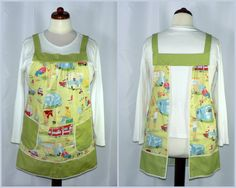 50s Retro Camping Apron no tie apron Gathered by LauriesGiftsBiz