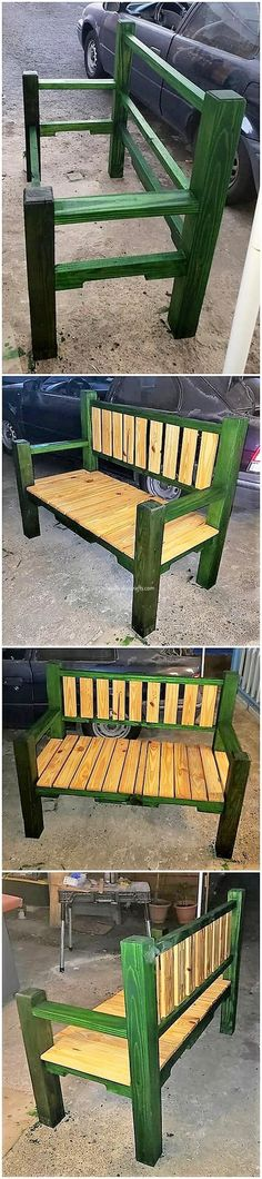 Cheap and Easy DIY Pallet Wood ProjectsThanks for this post.Keeping the bench in the garden outdoor areas in the homes for the sale of bringing some inspiring finishing is regarded to be the imperative want. Th# Cheap Diy Pallet Projects, Outdoor Projects, Wood Projects, Woodworking Projects, Woodworking Bench, Diy Outdoor Furniture, Pallet Furniture, Outdoor Decor, Outside Benches