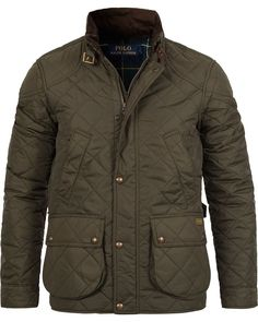 Polo Ralph Lauren Litchfield Cadwell Quilted Bomber Hunting Jacket Olive | eBay