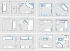 Great 8x8 Bathroom Layout #5 - Master Bathroom Floor Plan