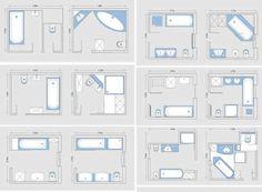 Great 8x8 Bathroom Layout #5 - Master Bathroom Floor Plan