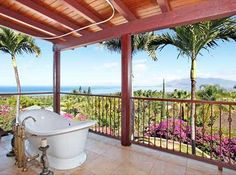LHM Hawaii - Impeccable down to the last detail. This approximate 3516 s.f., 4 bedroom, 3 bath home along with one bedroom, one bath 494 s.f Ohana, sits on a prime .61 acre lot at the end of a cul-de sac with Panoramic Ocean, Outer Island, & West Maui views. Gorgeous handmade wooden doors, mahogany & bamboo floors & imperial plaster walls. Sub-Zero appliances, Dacor Gas Cook-top, 8 KW of Photovoltaic Electric plus double-120 gallon Solar Hot H2O.