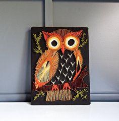 Vintage Owl String Art Wall Hanging  Pinned by www.myowlbarn.com