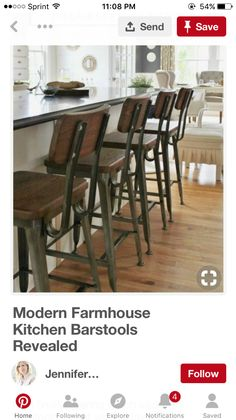 Tremendous 11 Best Bar Stools Images In 2019 Bar Stools Kitchen Redo Andrewgaddart Wooden Chair Designs For Living Room Andrewgaddartcom
