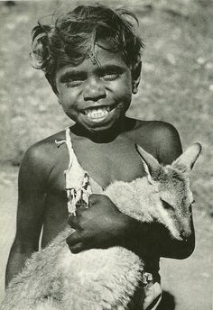Aboriginal boy with a Kangaroo for a pet, Photo shared by the Australia National Geographic Aboriginal Culture, Aboriginal People, Aboriginal Art For Kids, Aboriginal Man, We Are The World, People Of The World, Australian Aboriginal History, Australian Aboriginals, Australian People