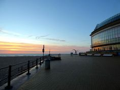 Oostende after sunset 06-06-2015 (with reflection in the windows of the Casino. by henri.van.den.abeele