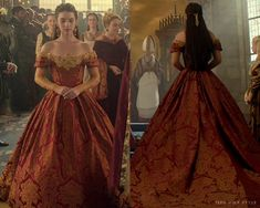"The Top 30 Dresses Queen Mary Wore On The CW's ""Reign"" - I think the wedding dress and corination dress were best Source by rosabogaci - Reign Tv Show, Reign Mary, Reign Dresses, Royal Dresses, Reign Fashion, Dress Fashion, Queen Dress, Fantasy Dress, Medieval Dress"