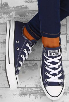 9684cdf77a2bda Chuck Taylor Converse All Star Ox Navy Trainers - UK 3