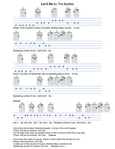 Let It Be - Fingerpicking pattern