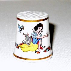 Disney Snow White porcelain thimble.
