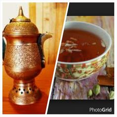Kashmiri Kahwa in Choicest Green Teas Blended With Saffron, Indian Spices, Saffron, Almonds to make a Majestic Cuppa Shipping across the world thechahouse@yahoo.com