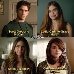 Teen Wolf (Scott, Malia, Lydia, Allison) full names