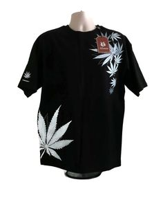 Mens Victorious T-Shirt Marijuana 420 Maryjane Blk Wht Gry Lg Urban Embroidered #Victorious #EmbellishedTee