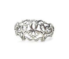 Carolyn Pollack Sterling Silver Scrolled Cuff Bracelet - Open Work Metal, Sterling Cuff, Sterling Bracelet, Vintage Bracelet by zephyrvintage on Etsy