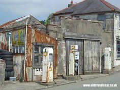 old garage in Wales