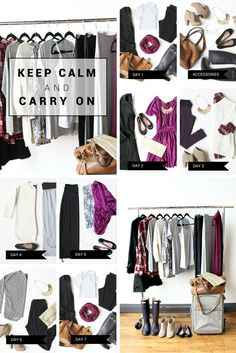 carry on packing list for women for 7 days in london UK. Travel lighter!