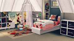 Coastal Living Idea Home -Kid's room / The Sims 3  | For more daily Sims 3 & 4 pins follow http://www.pinterest.com/itsallpretty/the-sims-3-4/