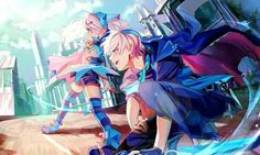 Lu (Clase Chiliarch) y Ciel (Clase Dreadlord) (Elsword) Lu Elsword, Elsword Game, Epic Art, Amazing Art, Hades, Game Character, Character Design, Anime Lineart, Elsword Online