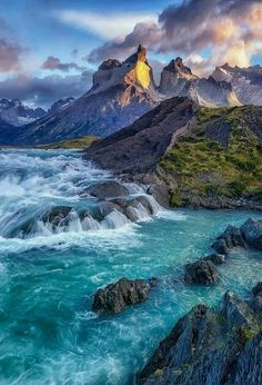 """Beautiful view of mountains"" Beautiful Waterfalls, Beautiful Landscapes, Rio, Perfect Kiss, Water Images, Mountain Landscape, Pretty Pictures, Places To See, Landscape Photography"
