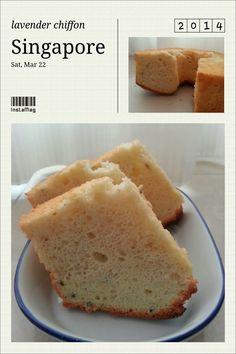 Baking on Cloud 9: Lavender chiffon cake