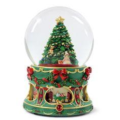 San Francisco Music Box Christmas Tree Water Globe with Rotation ...