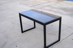 Modern Desk by RevoltMetalWorks on Etsy, $850.00