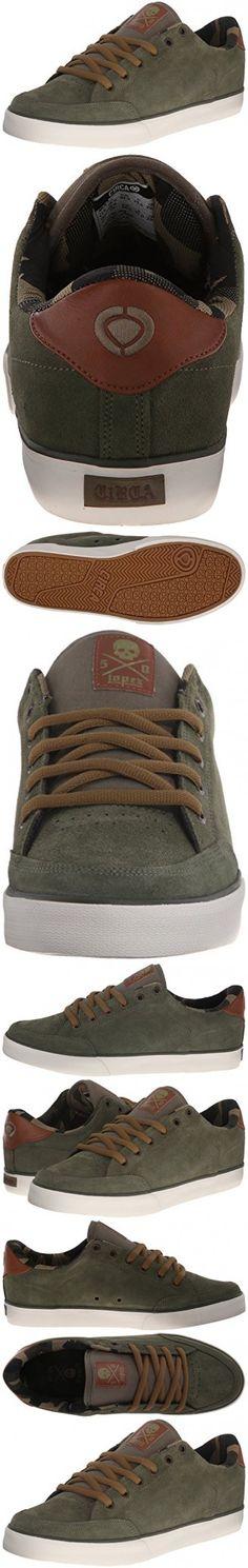 C1RCA Men's AL50 Skate Shoe, Burnt Olive/Pinecone, 5.5 M US
