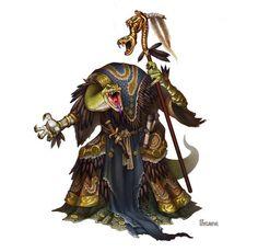 Serpentfolk Priest of Ydersius Picture  (2d, fantasy, monster, creature, snake)
