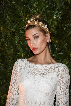 September 25: [HQs] Hailey Baldwin attends the Dolce&Gabbana Boutique Opening Event during Milan Fashion Week