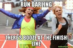 Six Ab Fab quotes to use in real life - MyDaily UK Running Humor, Running Quotes, Running Motivation, Gym Humor, Workout Humor, Fitness Motivation, Fitness Humor, Funny Fitness, Funny Humor