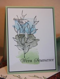 Leafy Sympathy by CAKath - Cards and Paper Crafts at Splitcoaststampers