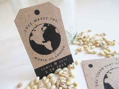 PRINTABLE Travel Themed Wedding Favor Tags 2 sizes by VanillaRetro